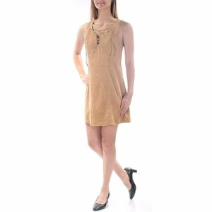 Guess Dresses - Guess | Faux Suede Lace Up Dress